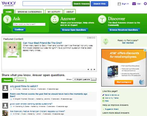Affiliate marketing and Yahoo Answers