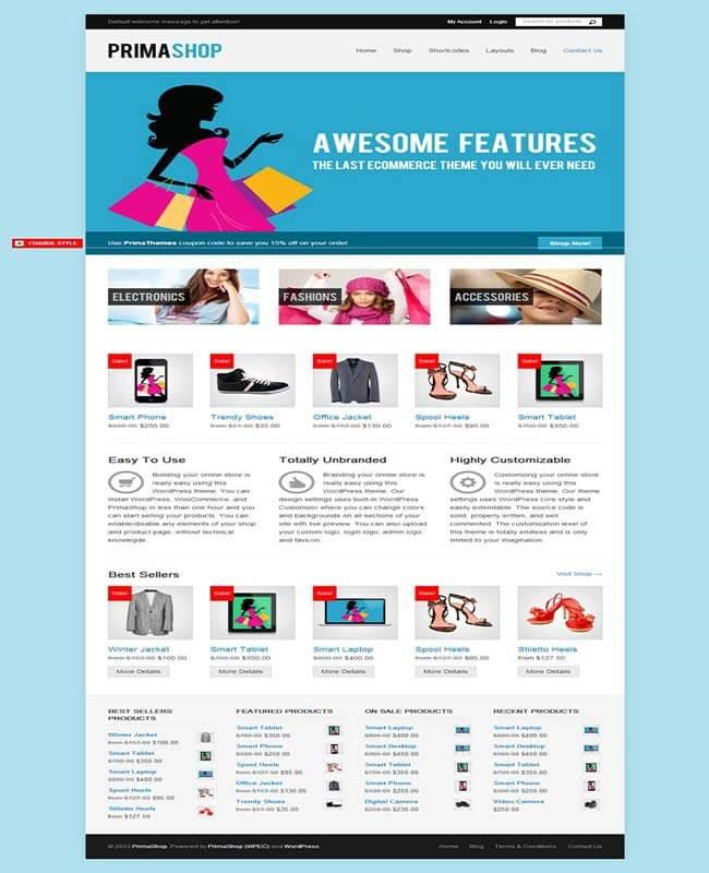 WordPress store theme