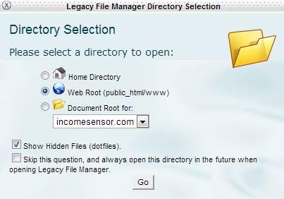 Open file manger