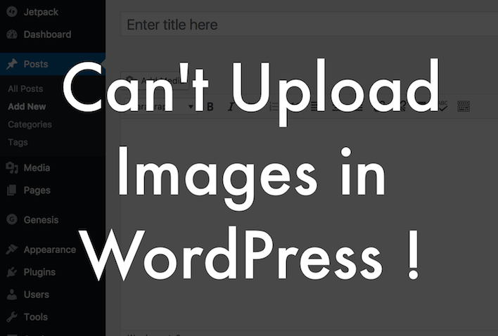 Can't upload images in WordPress
