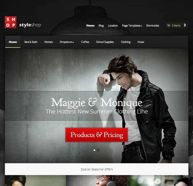 StyleShop eCommerce theme