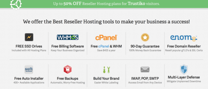reseller hosting features