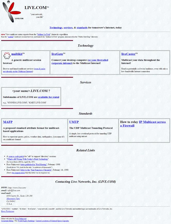 live.com in 1999