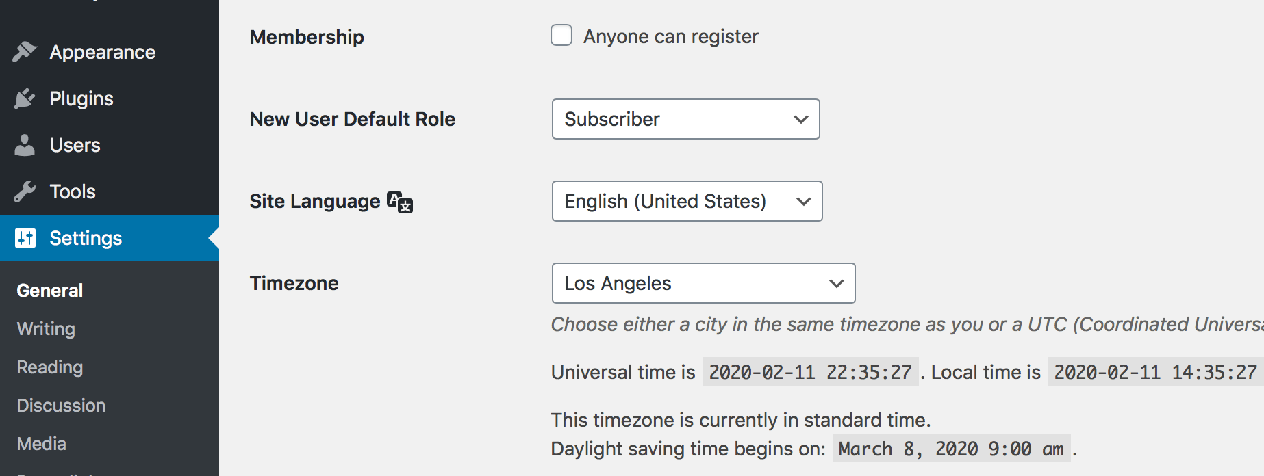 Disabling WordPress User Registration
