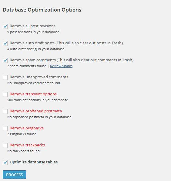Reduce WordPress Database Size
