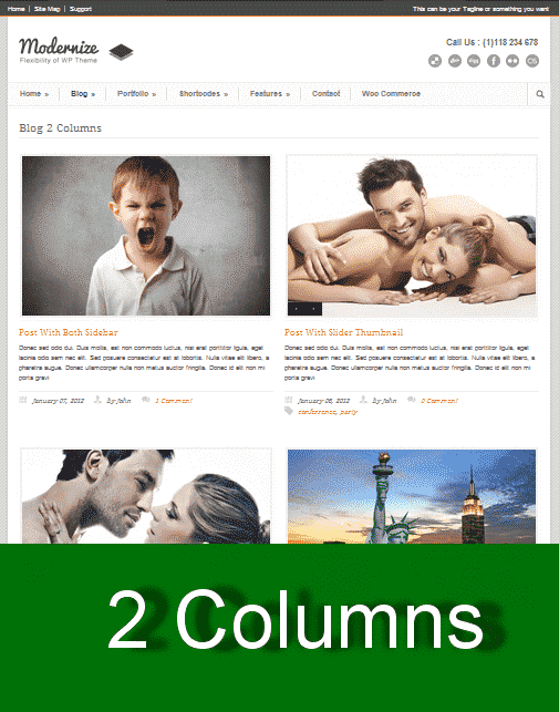 Two Columns WordPress Theme