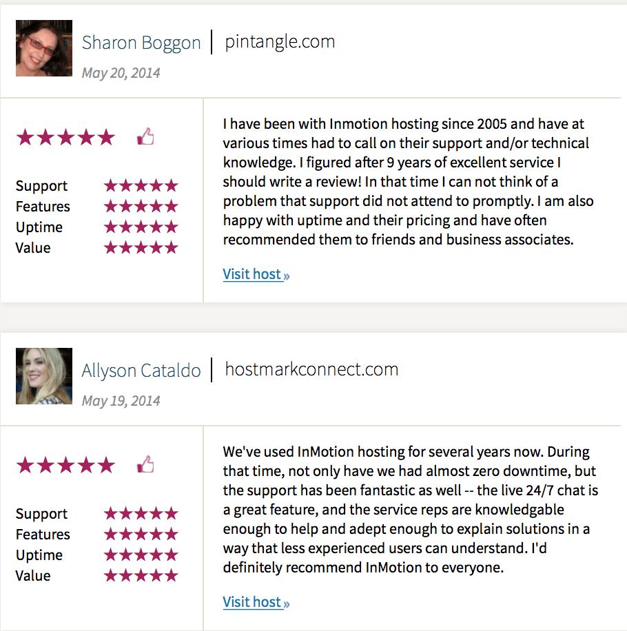 InMotion Hosting reviews