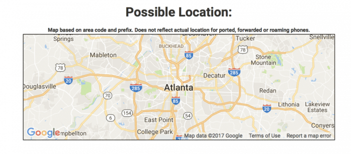 Possible phone location
