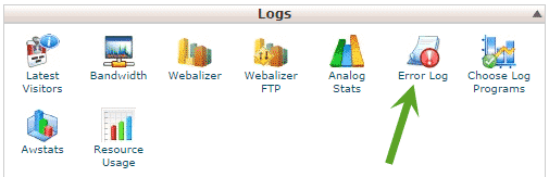 how to find error log in cpanel