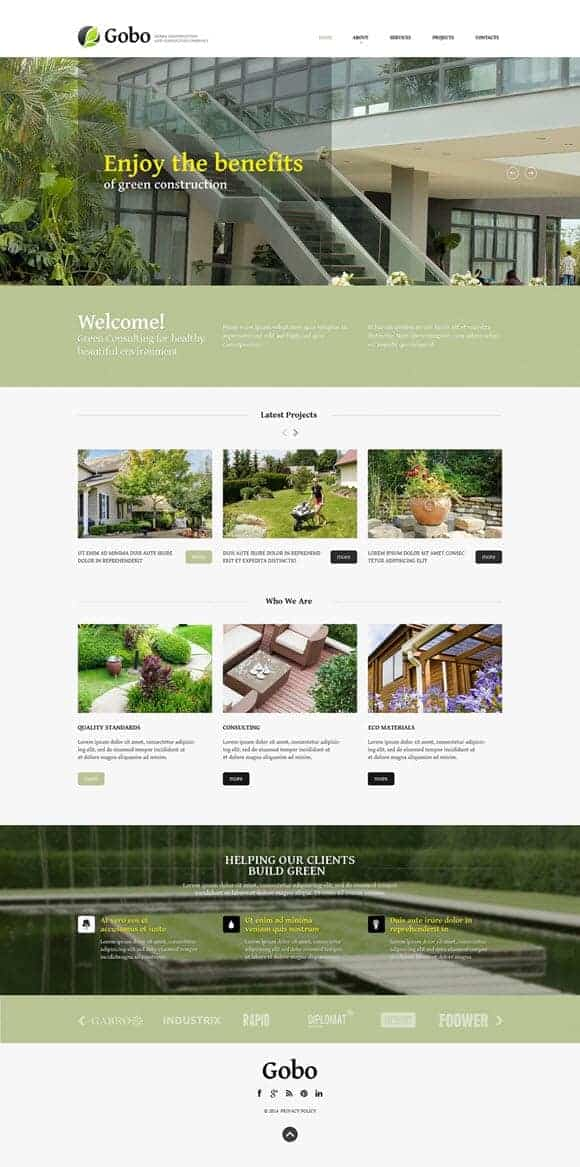Landscape Website Templates Top Rated Designs