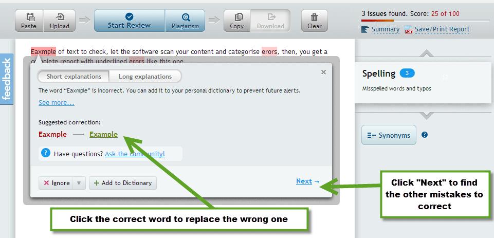 Online punctuation corrector