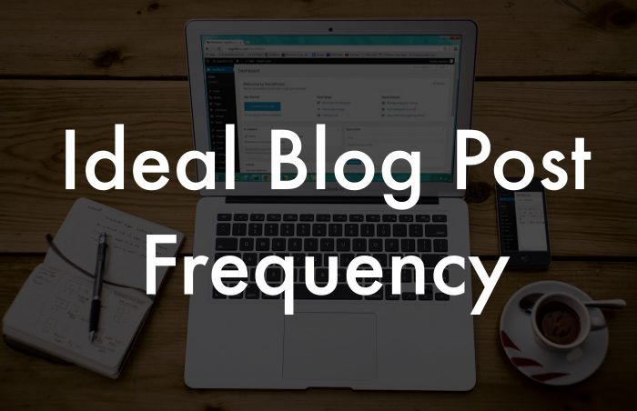 ideal blog post frequency