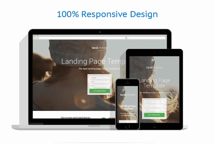 Web development responsive page