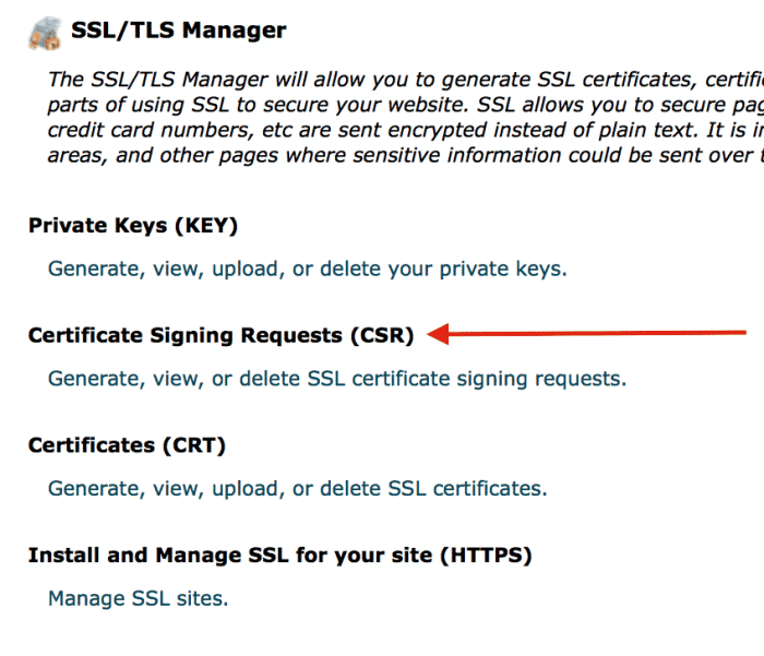 Certificate Signing Requests (CSR)