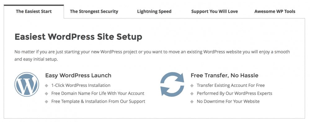 Easy WordPress hosting