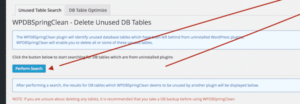 Delete Unused Database Tables in WordPress