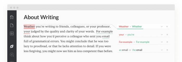 Grammar errors correction