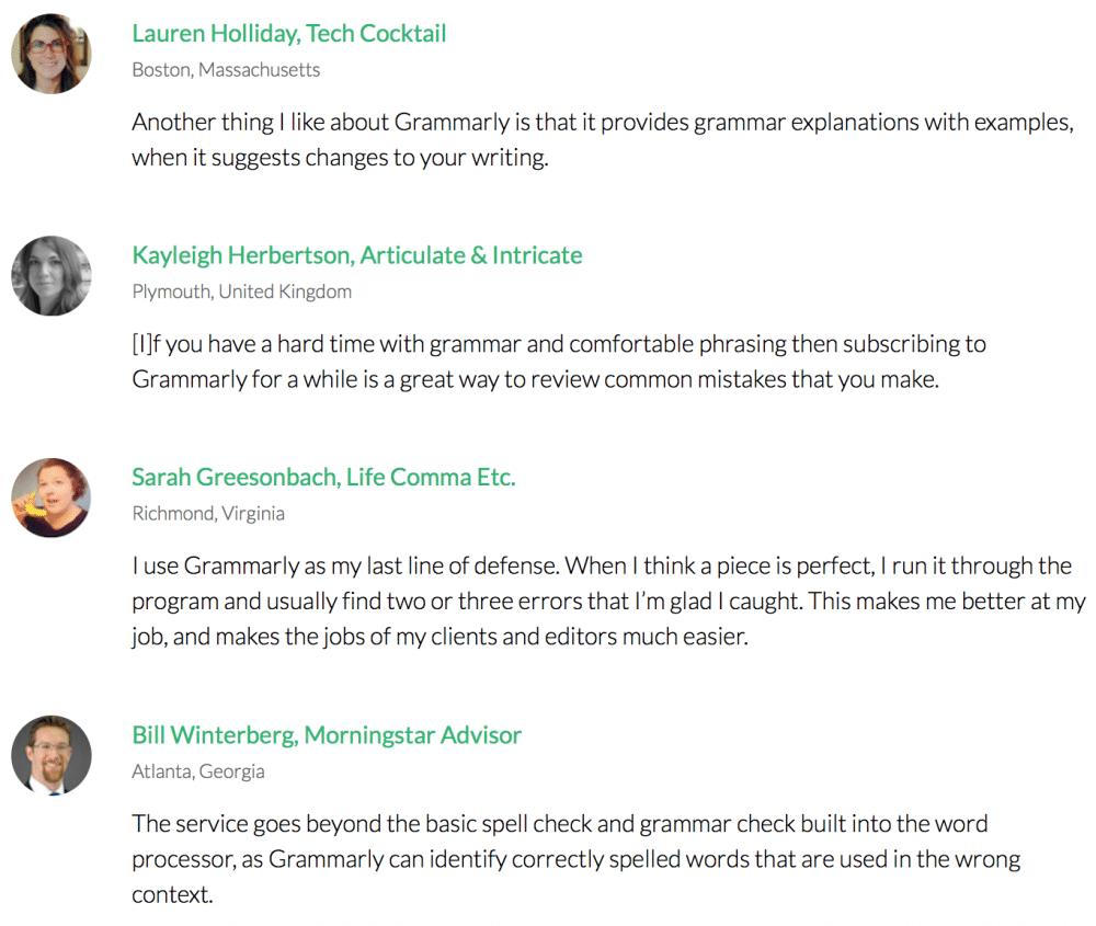 Grammarly customer reviews