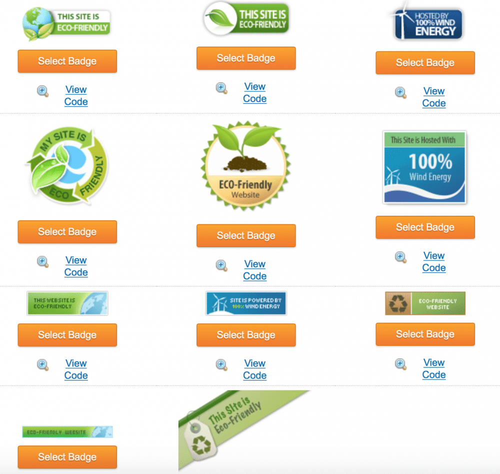 iPage Green Badges