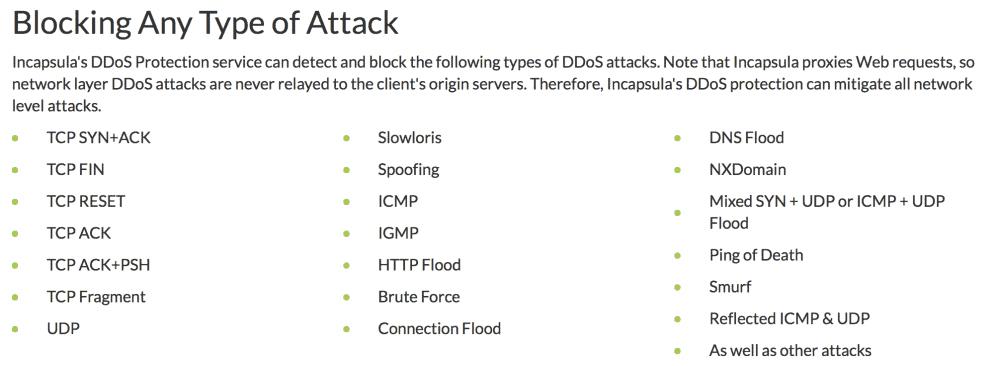 Blocking DDoS attacks
