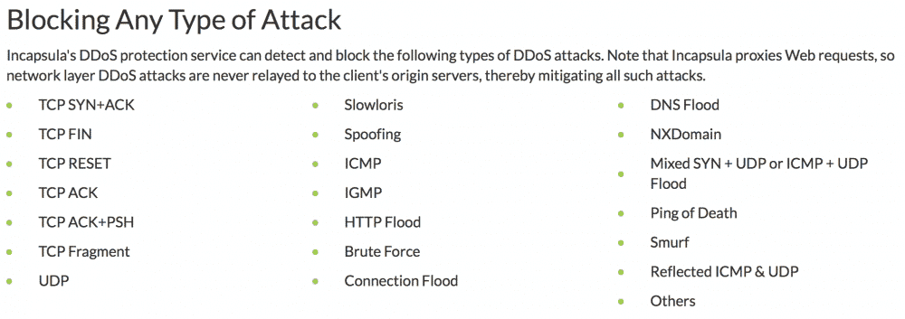 Blocking Any Type of Attack