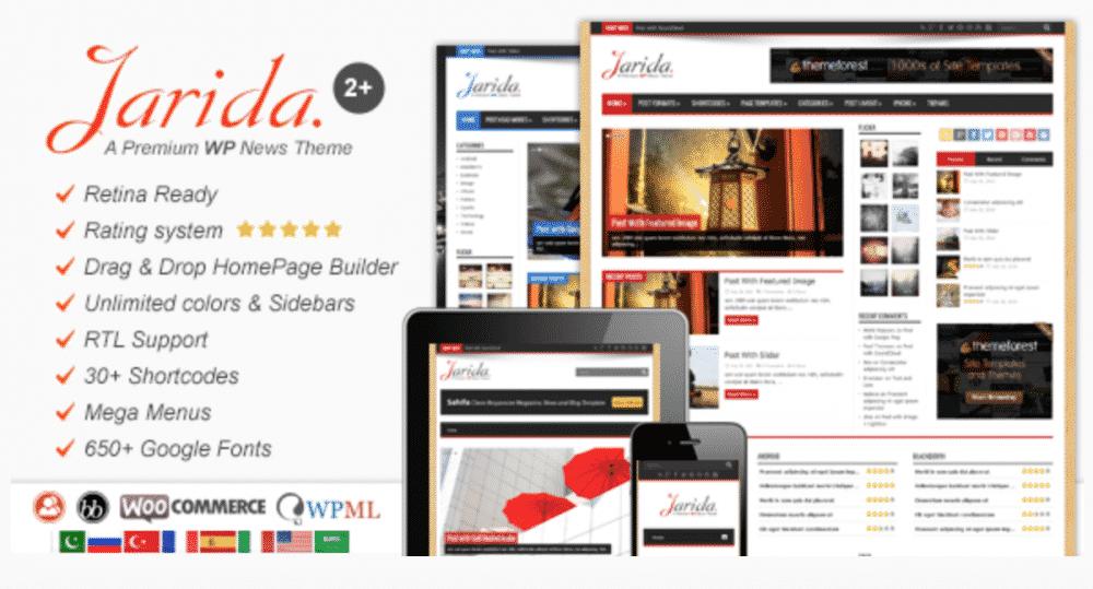 fully customizable WordPress News theme