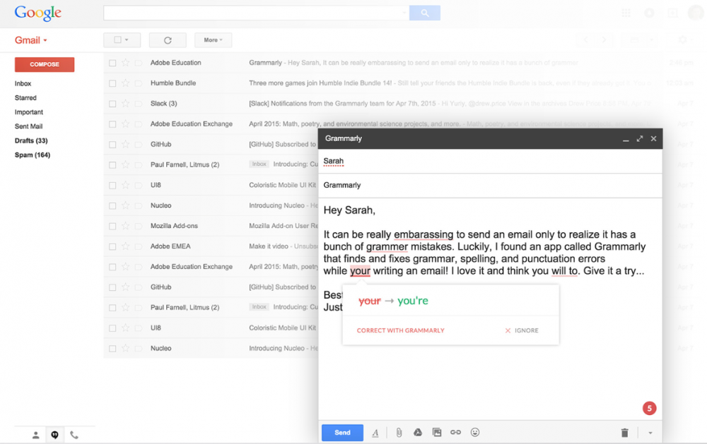 how to add spell check in gmail