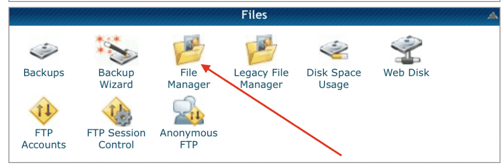 using cpanel file manager