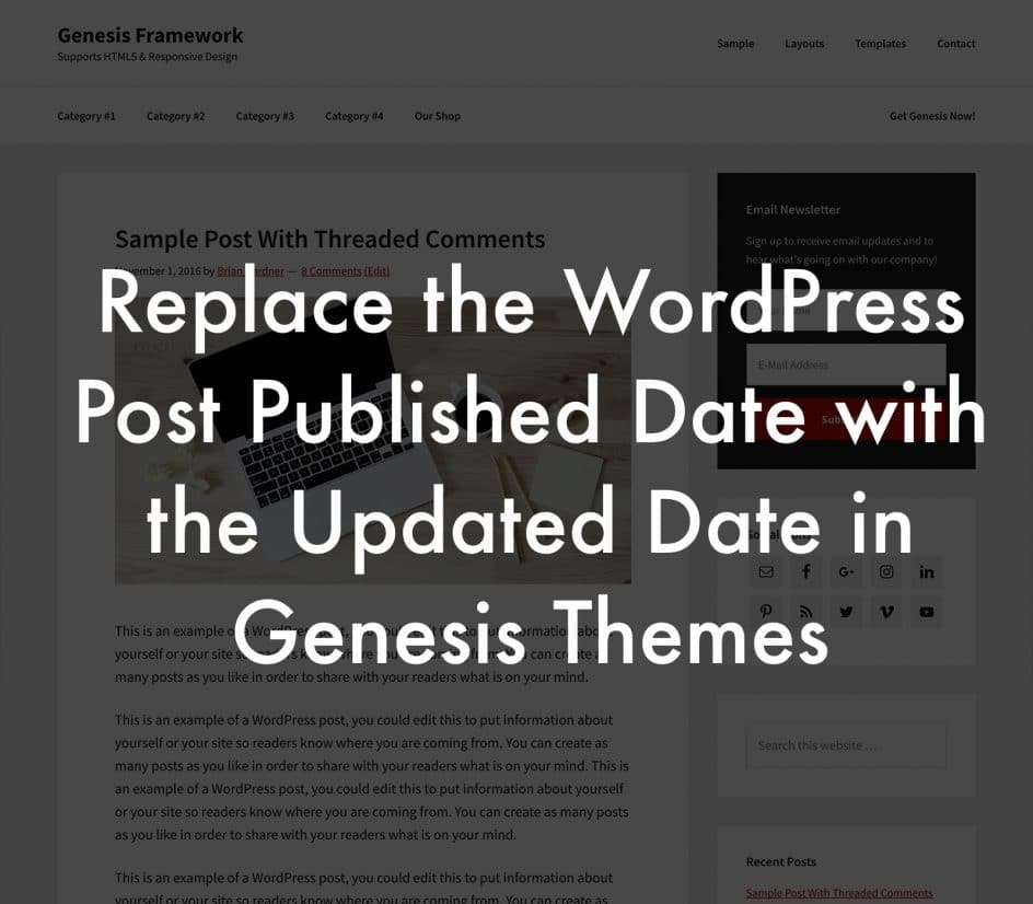 Replace the WordPress Post Published date