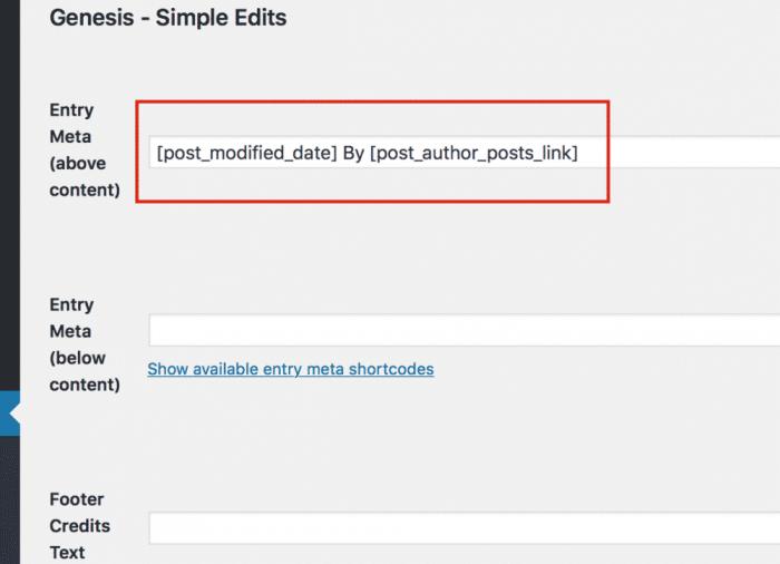 genesis simple edits