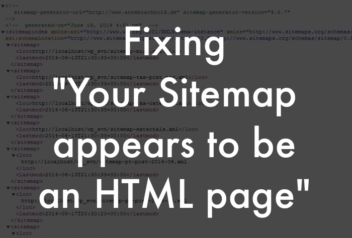 sitemap error fix