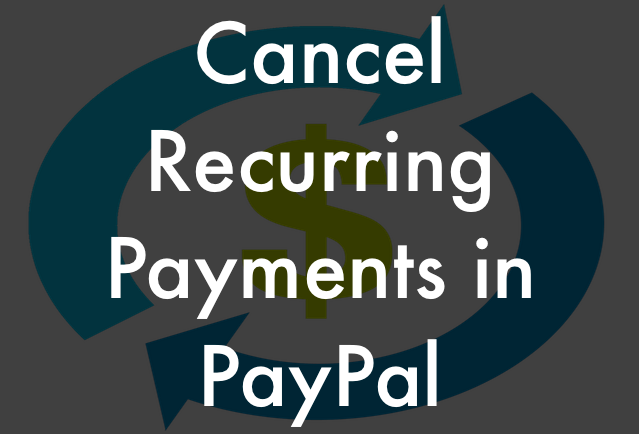 cancel recurring payments