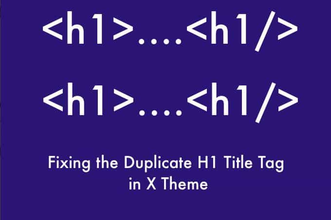 Fixing the duplicate H1 title