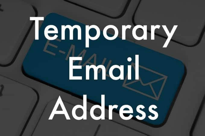 Temporary email address