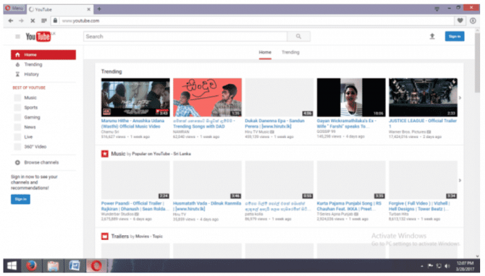 Youtube to watch movies